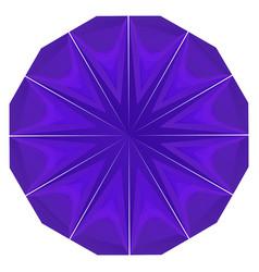 round purple geometric backdrop vector image