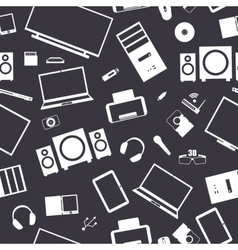 Seamless background from digital devices vector image