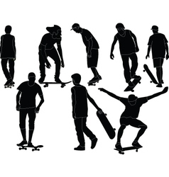 skateboards collection vector image