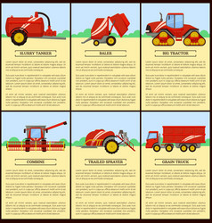 Slurry tanker and tractor set vector