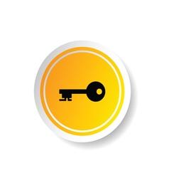sticker of key icon vector image