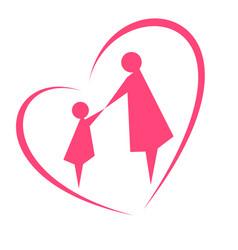The image of motherhood and childhood vector