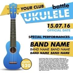 Ukulele show poster for your design battle live vector