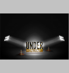 under construction on grunge background vector image