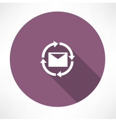 Uploads messages icon vector
