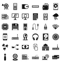 Web operation icons set simple style vector