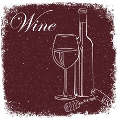 wine poster vector image