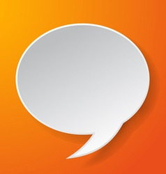 Abstract paper speech bubble vector image vector image