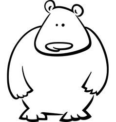 doodle bear for coloring vector image vector image