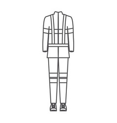 monochrome silhouette of male uniform of vector image