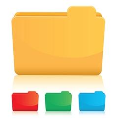 orange folders vector image