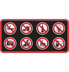 prohibited signs sticker vector image