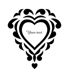 Tattoo pattern heart ornament vector image vector image