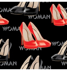 Womens high heel shoes seamless pattern vector image