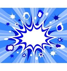 Burst background comic style vector image