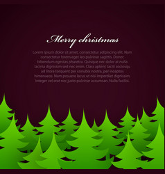 christmas tree forest background vector image