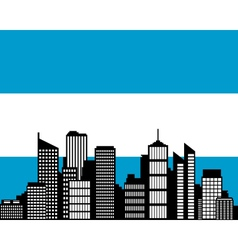 city and flag of argentina vector image vector image
