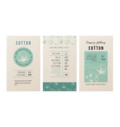 cotton banners in vintage style vector image
