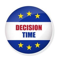 Decision time pin button vector