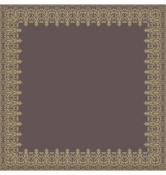 Floral quadratic frame vector