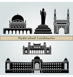 Hyderabad landmarks and monuments vector image