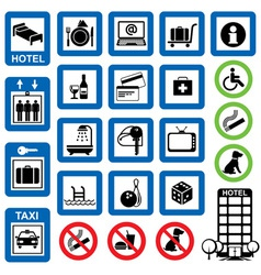 icons hotel vector image vector image