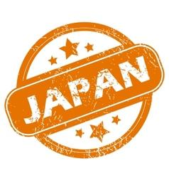 Japan grunge icon vector image