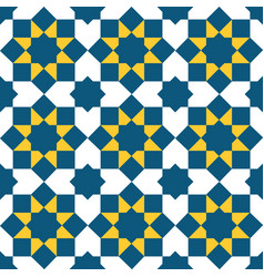 moroccan style mosaic pattern vector image