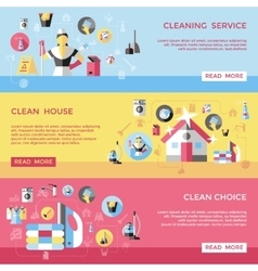 Professional Cleaning Horizontal Banners Set vector image vector image