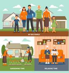 senior people activities composition vector image vector image