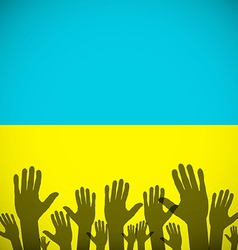 Ukraine coat art background sign country vector