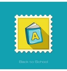 Book flat stamp vector