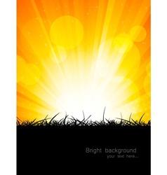Bright orange background vector image vector image