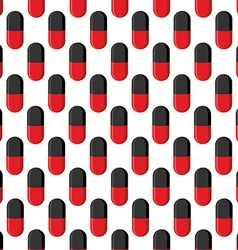 Capsule medical seamless pattern Pills background vector image
