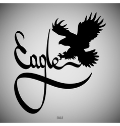 Eagle Calligraphic elements vector image
