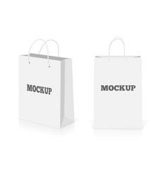 empty shopping bags set isolated on white vector image