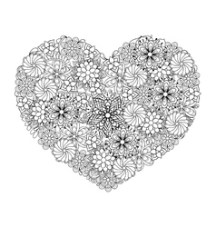 Hand drawn patterned Big heart vector image vector image