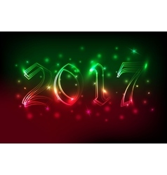 Neon banner or poster with blured lights vector image