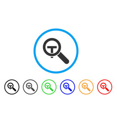 search text rounded icon vector image vector image