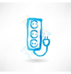 socket grunge icon vector image vector image