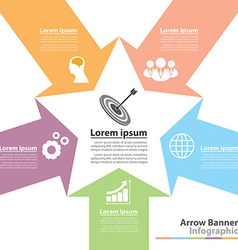 Arrow banner infographic vector image