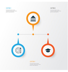 Education icons set collection of education tools vector