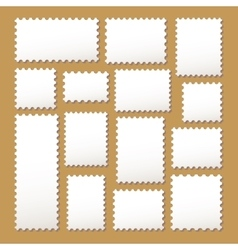 empty blank postage stamps vector image
