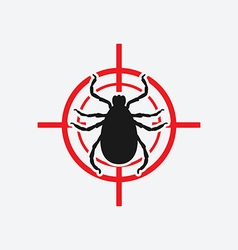mite icon red target vector image vector image