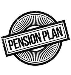 Pension plan rubber stamp vector