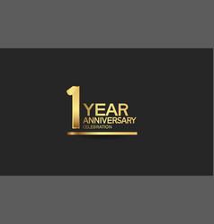 1 year anniversary celebration with elegant vector