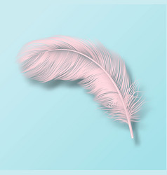 3d realistic falling pink fluffy twirled vector image