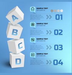 Abstract business infographic template vector