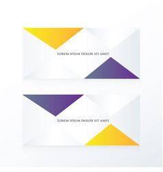 Abstract pyramid banner purple yellow vector