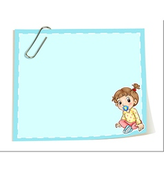 An empty paper template with a paper clip and an vector